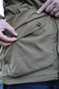 Front Lower button pockets