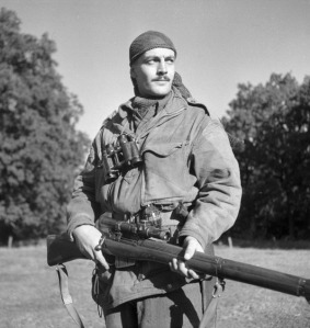 Sgt Harold Marshall of the Canadian Calgary Highlander Sniper Section in WWII