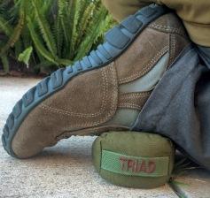 Kneeling with triad wedge bag