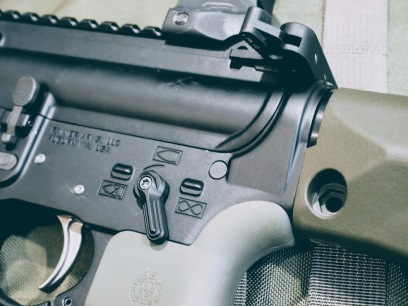 Rainier Arms receivers, ALG ACT trigger, V-seven lightweight short throw safety lever.